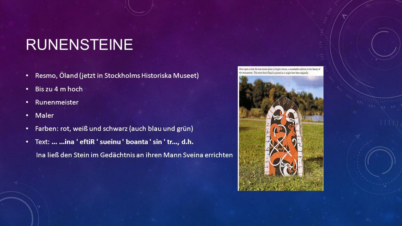 runensteine Resmo, Öland (jetzt in Stockholms Historiska Museet)