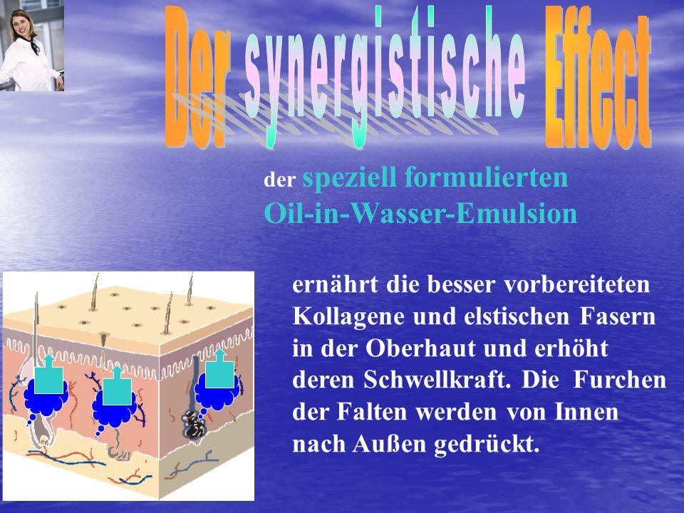 Der Effect synergistische Oil-in-Wasser-Emulsion
