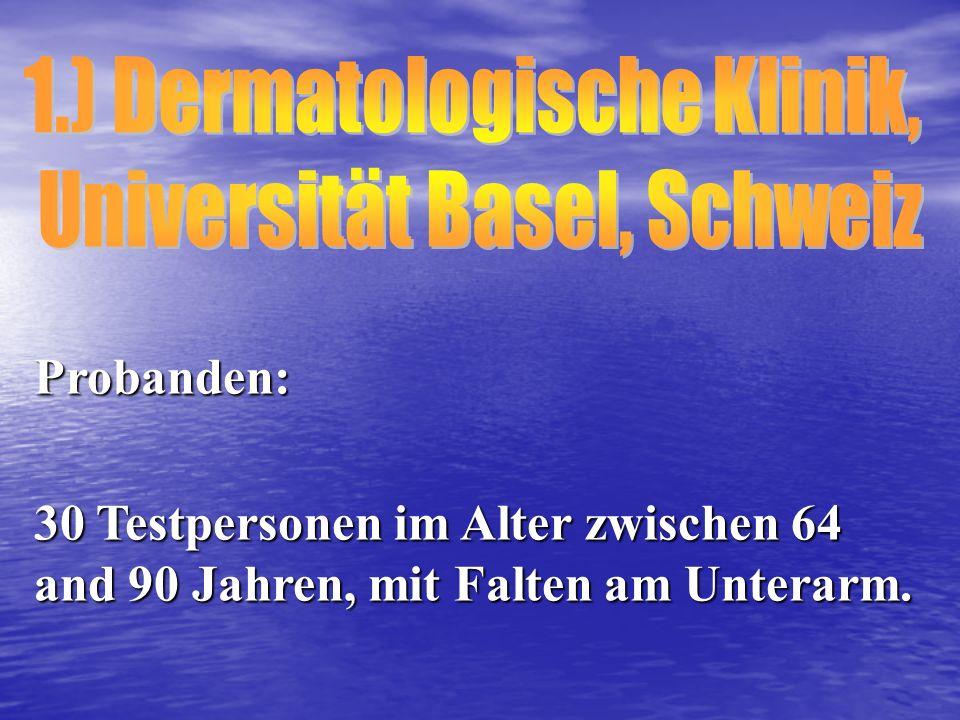 1.) Dermatologische Klinik,