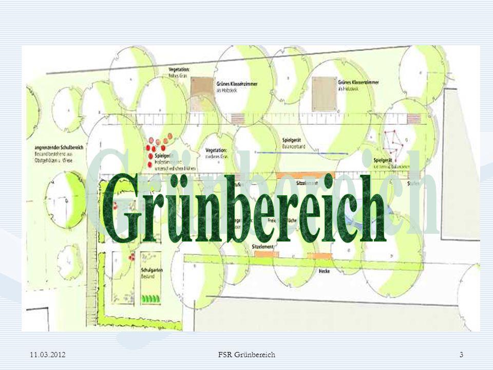 Projekt Schulhof 2 Grünbereich 11.03.2012 FSR Grünbereich