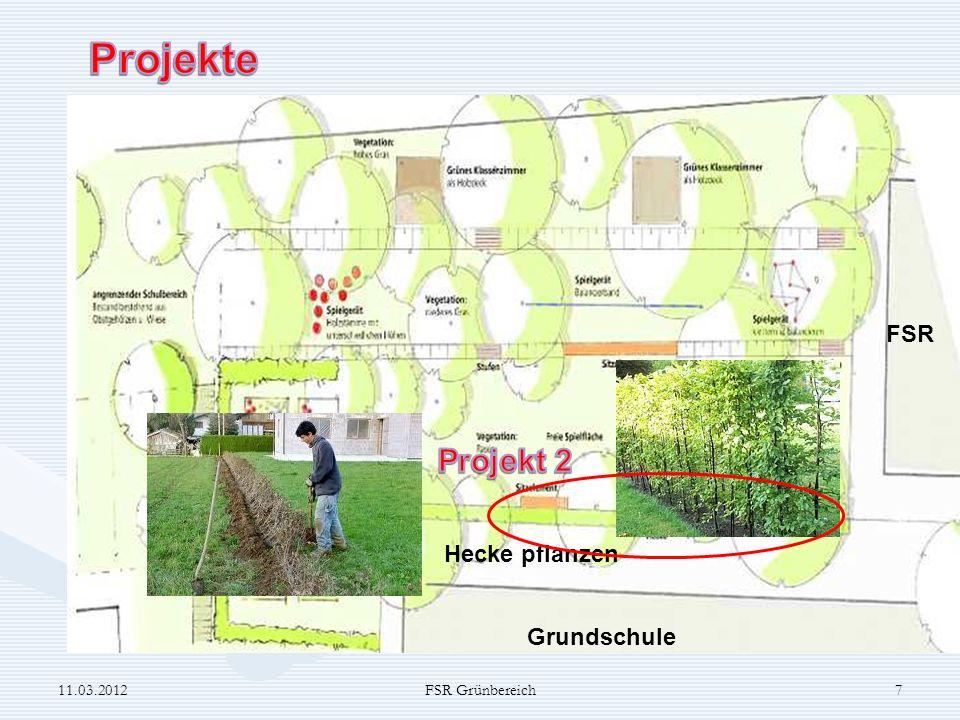 Projekte Projekt 2 FSR Hecke pflanzen Grundschule 11.03.2012