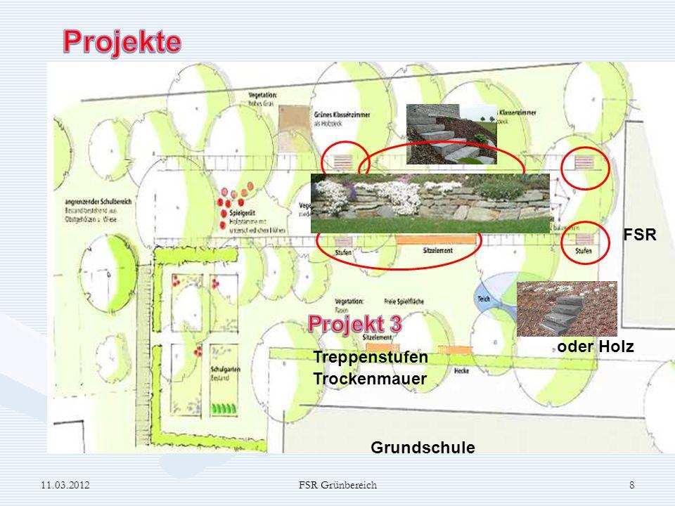 Projekte Projekt 3 Stein FSR oder Holz Treppenstufen Trockenmauer
