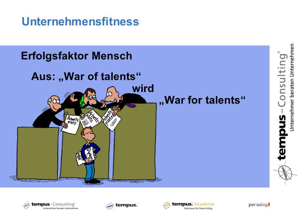 """Unternehmensfitness Erfolgsfaktor Mensch Aus: """"War of talents wird"""