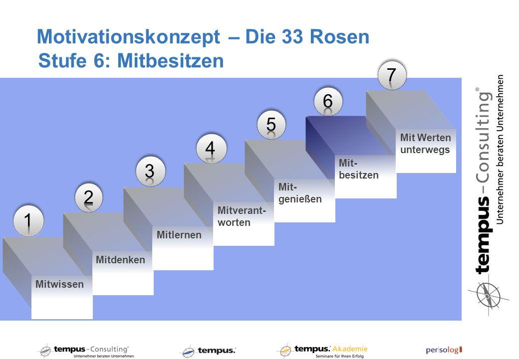 Motivationskonzept – Die 33 Rosen Stufe 6: Mitbesitzen