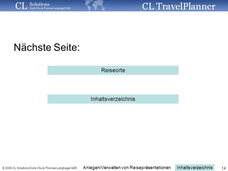 Nächste Seite: Reiseorte Inhaltsverzeichnis