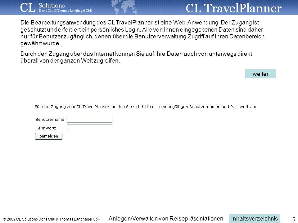 Anlegen und Verwalten von Reisepräsentationen