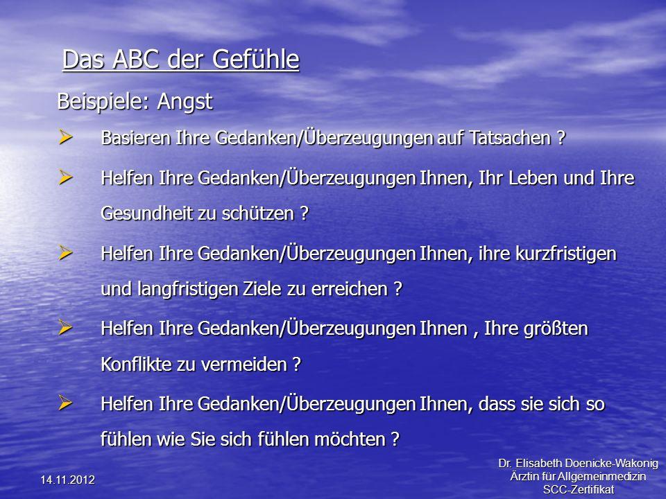 Das ABC der Gefühle Beispiele: Angst