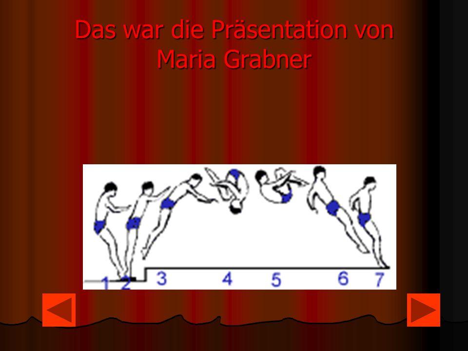 Das war die Präsentation von Maria Grabner