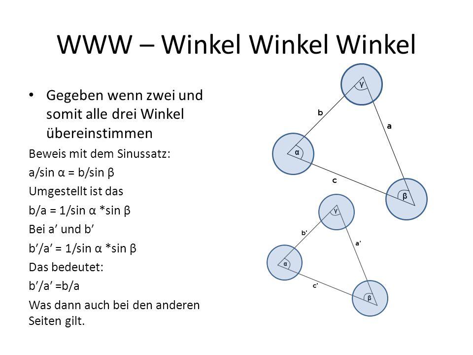 WWW – Winkel Winkel Winkel