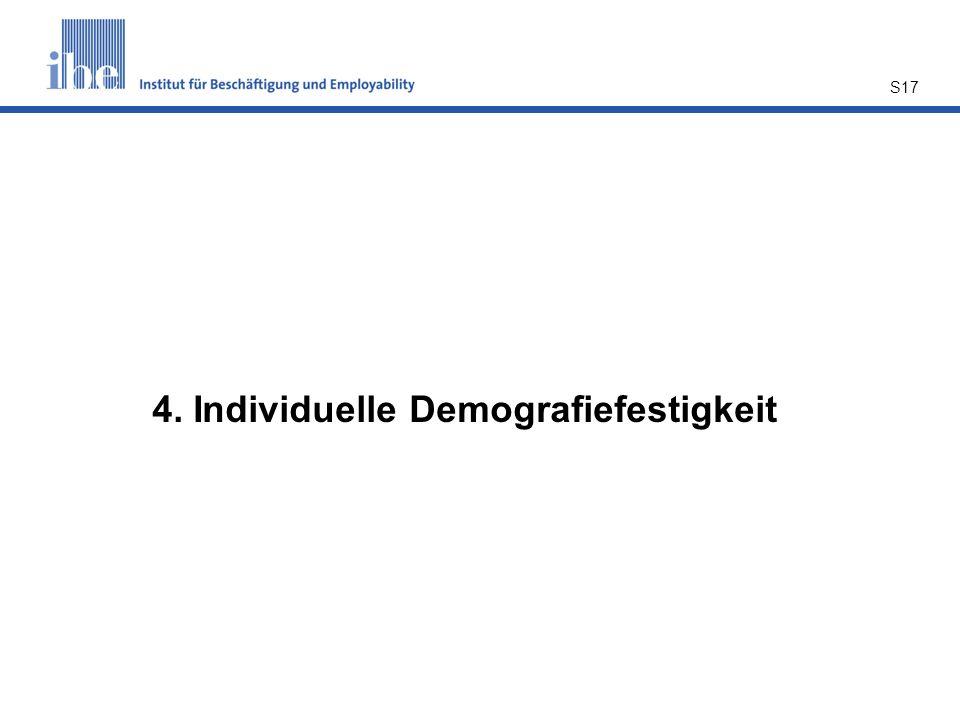 4. Individuelle Demografiefestigkeit