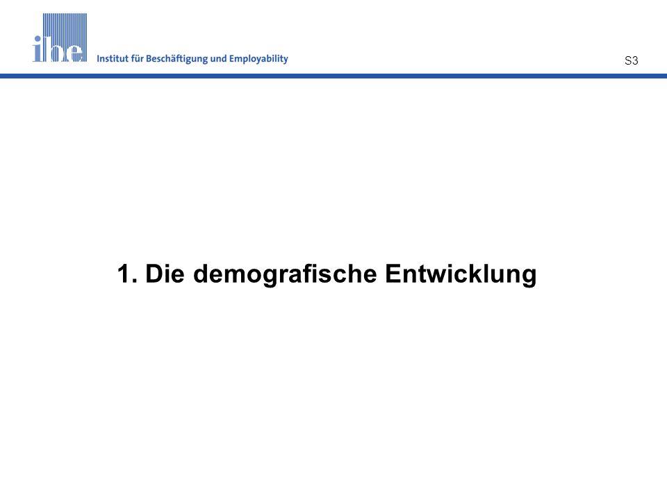 1. Die demografische Entwicklung