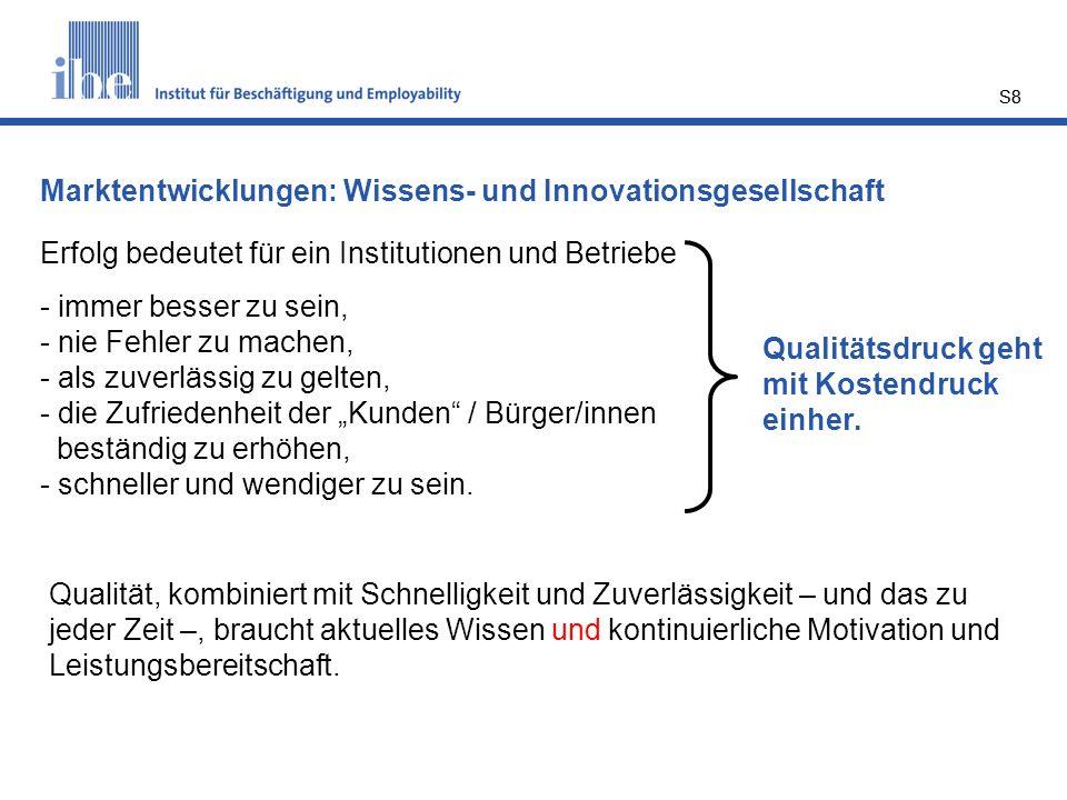 Marktentwicklungen: Wissens- und Innovationsgesellschaft