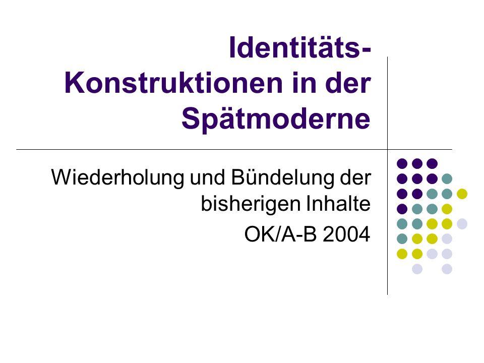 Identitäts-Konstruktionen in der Spätmoderne