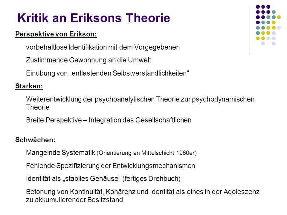 Kritik an Eriksons Theorie