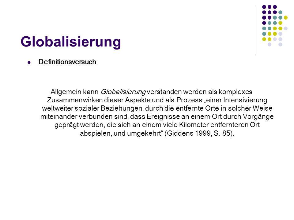 Globalisierung Definitionsversuch