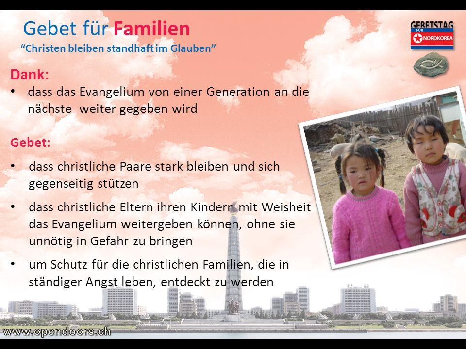 Gebet für Familien Dank: