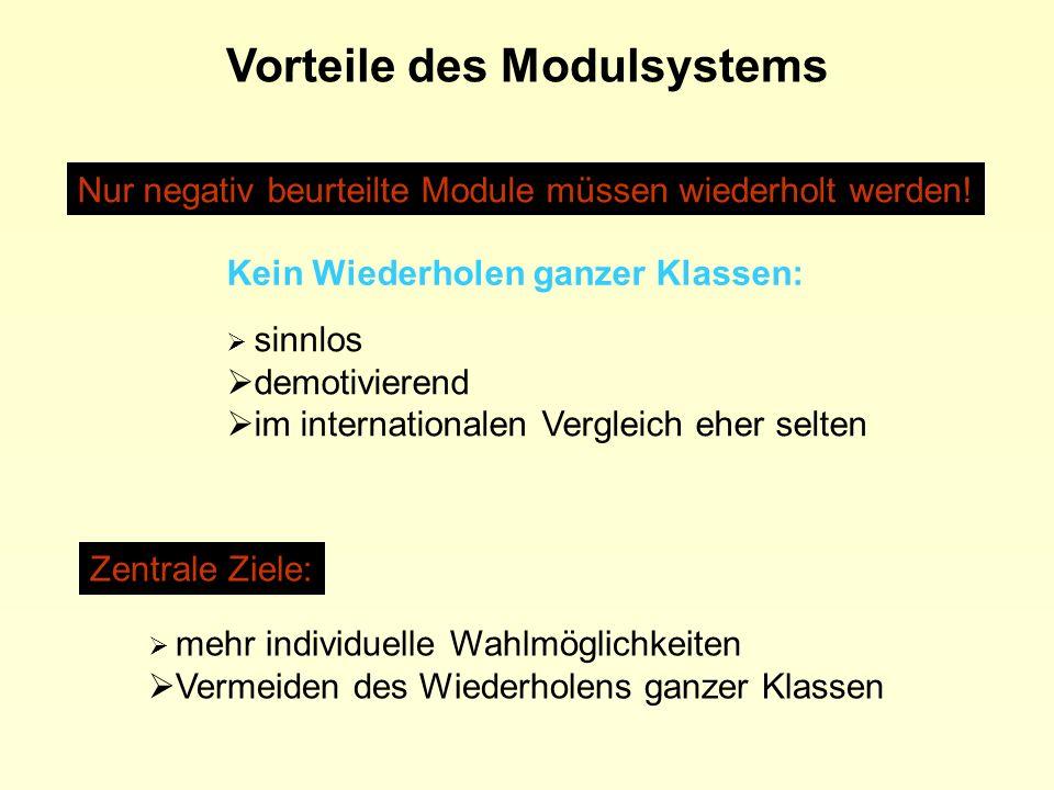Vorteile des Modulsystems