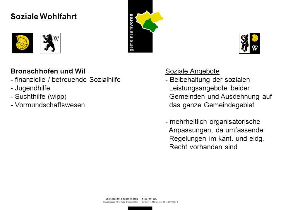 Soziale Wohlfahrt Bronschhofen und Wil