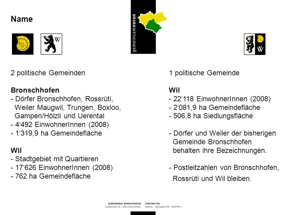 Name 2 politische Gemeinden Bronschhofen