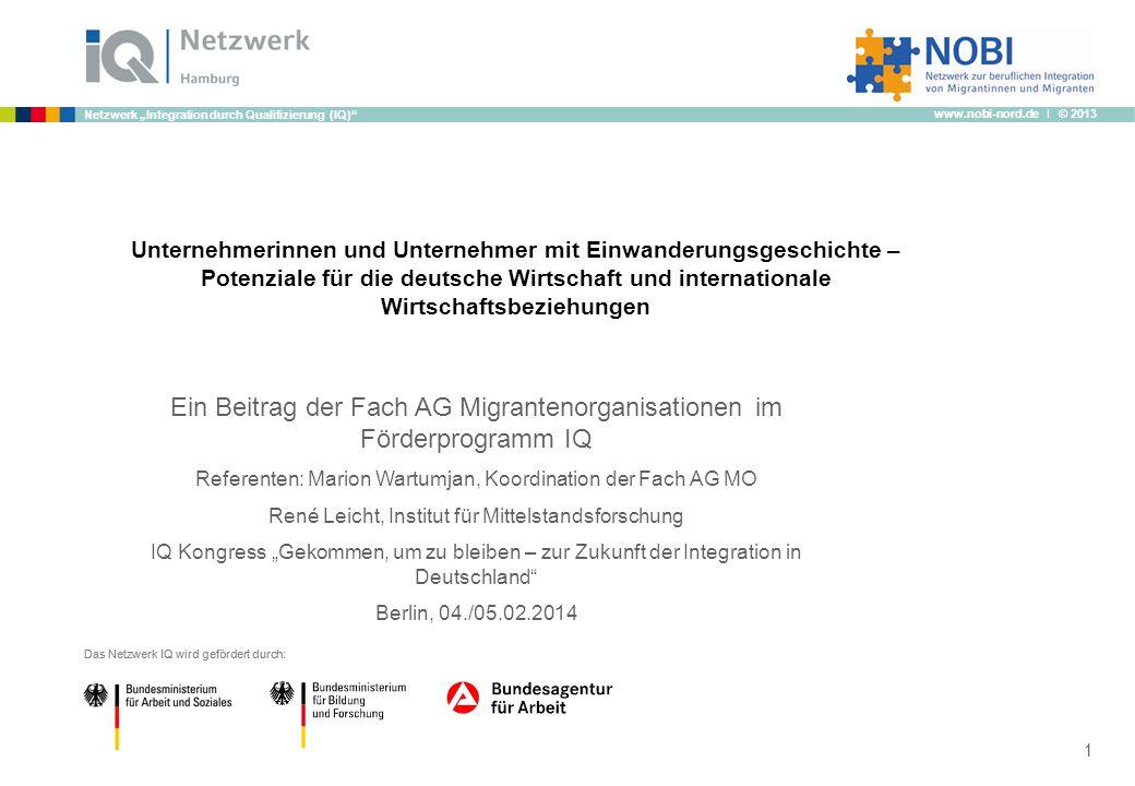 Ein Beitrag der Fach AG Migrantenorganisationen im Förderprogramm IQ