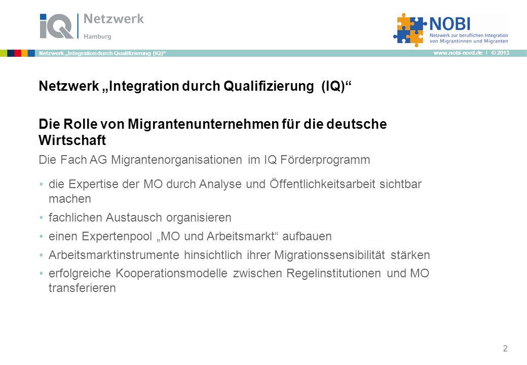 """Netzwerk """"Integration durch Qualifizierung (IQ)"""