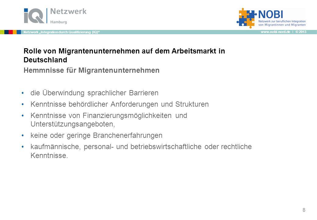 Rolle von Migrantenunternehmen auf dem Arbeitsmarkt in Deutschland