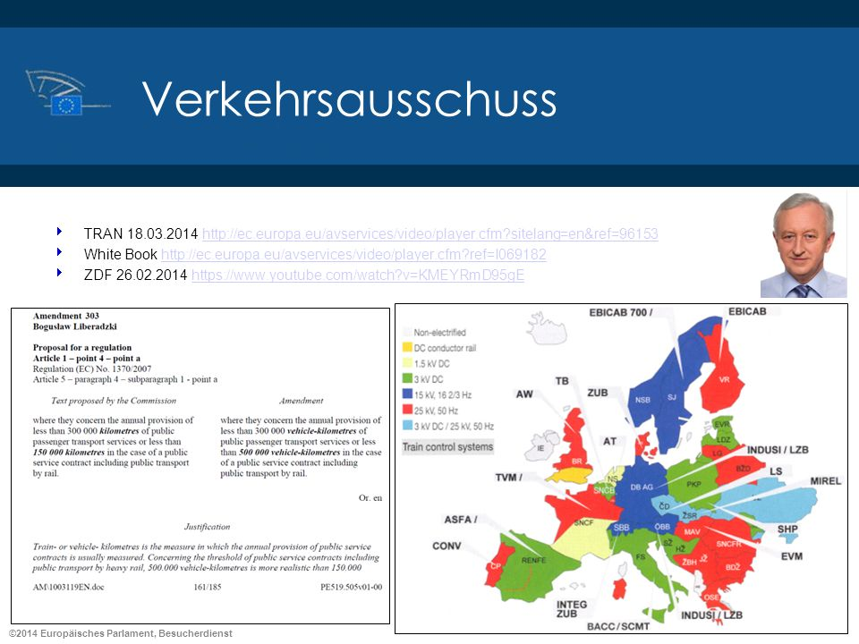 Verkehrsausschuss TRAN 18.03.2014 http://ec.europa.eu/avservices/video/player.cfm sitelang=en&ref=96153.