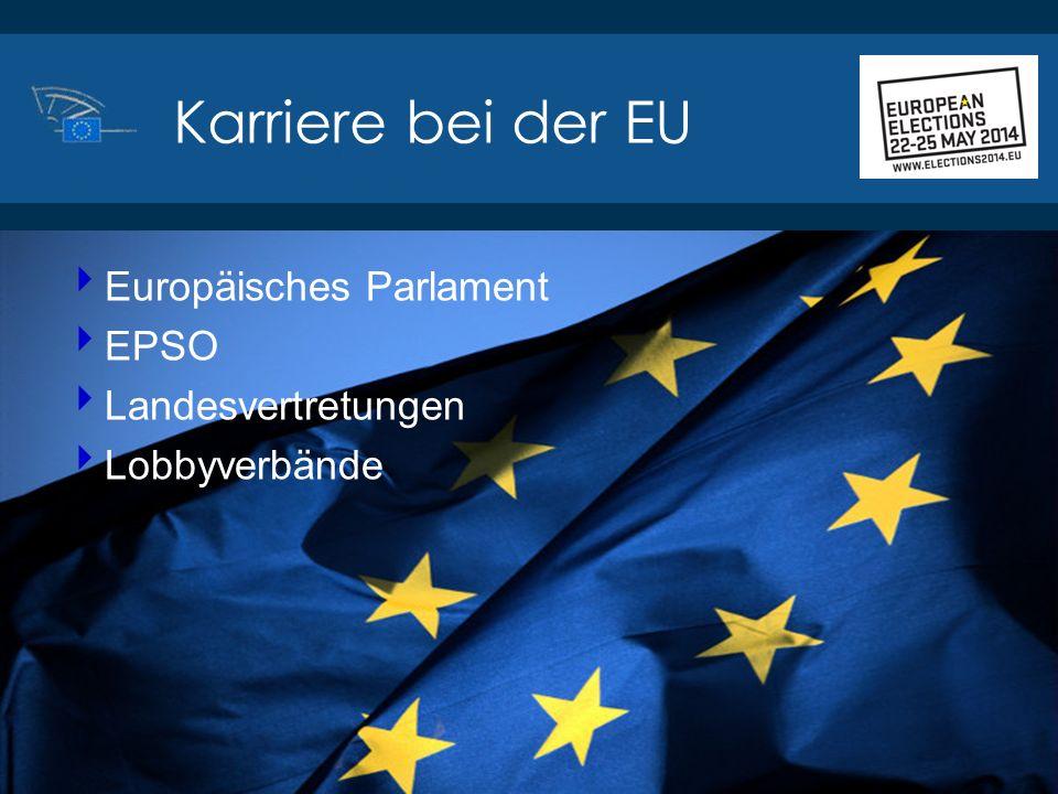 Karriere bei der EU Europäisches Parlament EPSO Landesvertretungen
