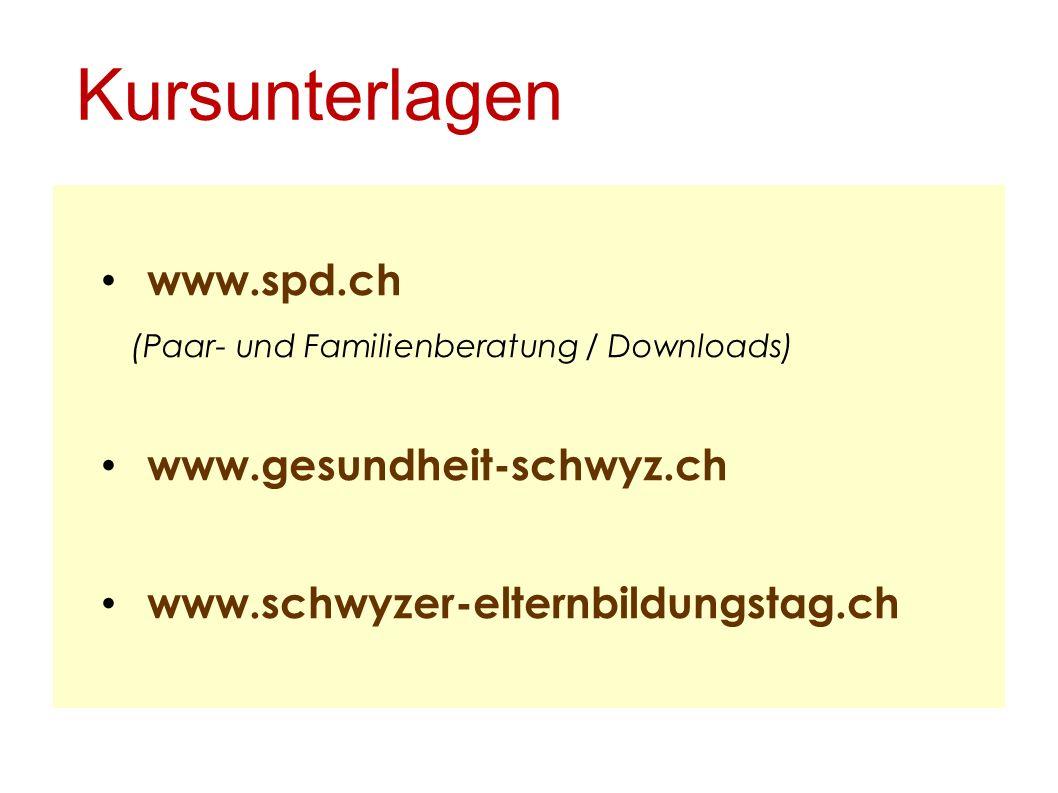 Kursunterlagen www.spd.ch www.gesundheit-schwyz.ch