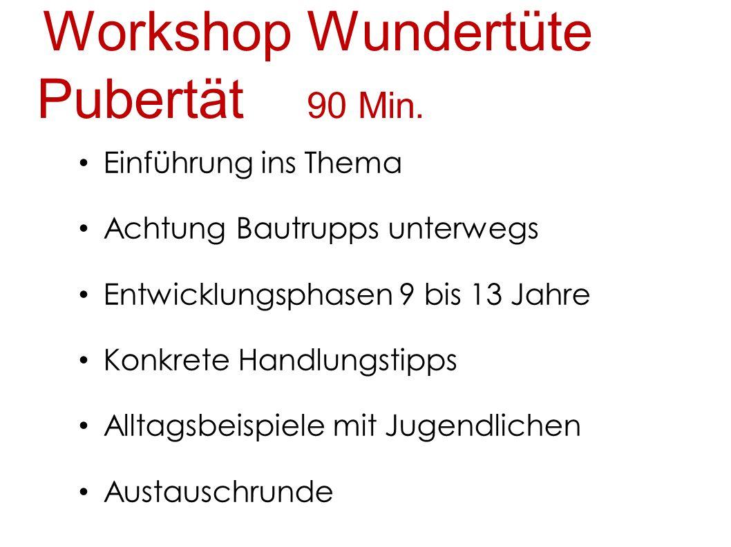Workshop Wundertüte Pubertät 90 Min.