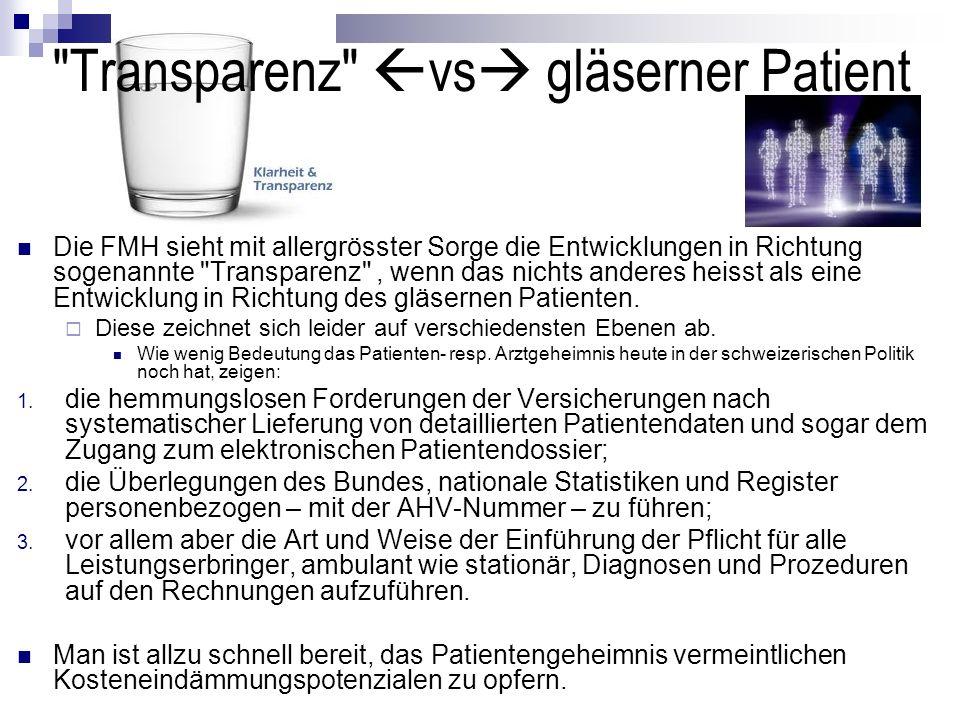 Transparenz vs gläserner Patient