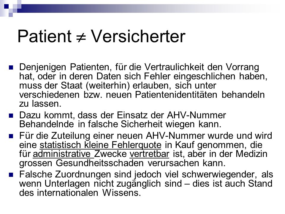 Patient  Versicherter