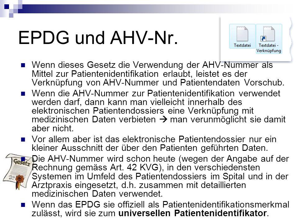 EPDG und AHV-Nr.