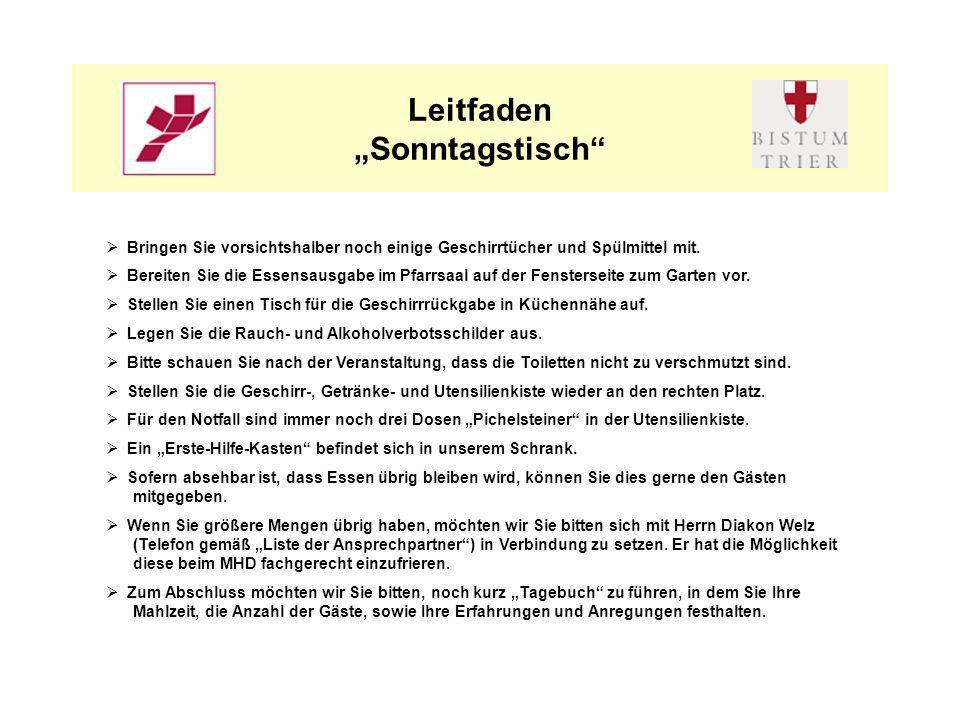"Leitfaden ""Sonntagstisch"