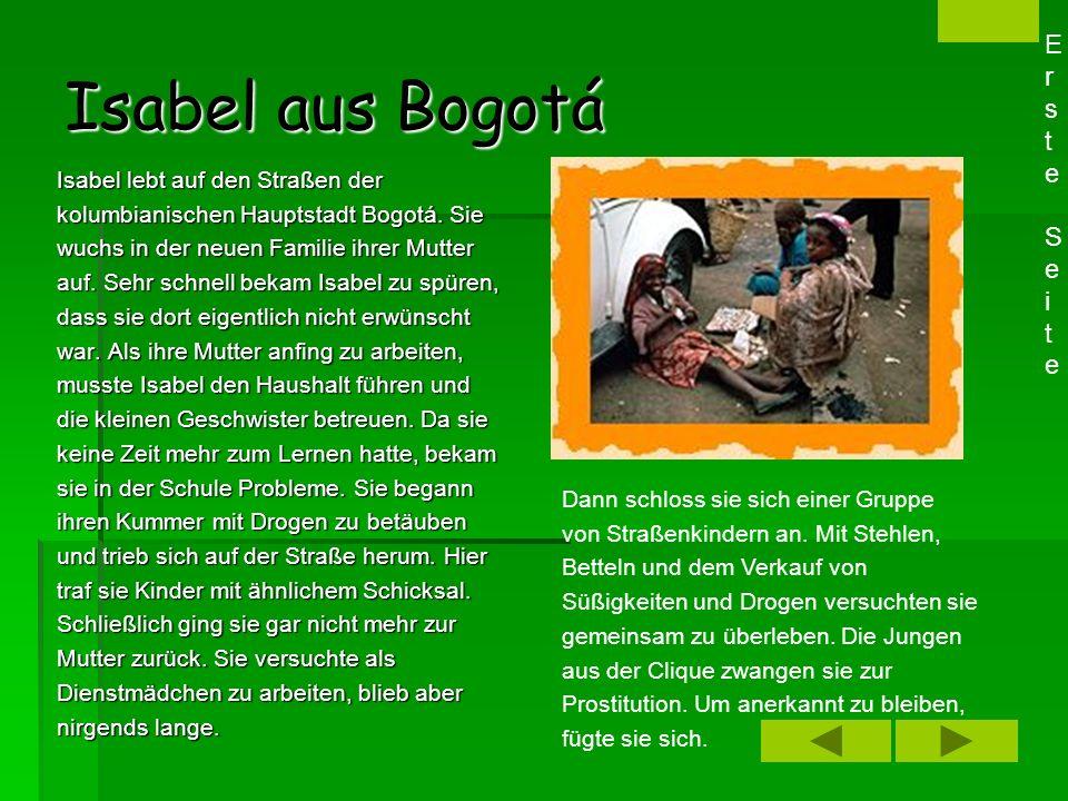 Isabel aus Bogotá Erste Seite