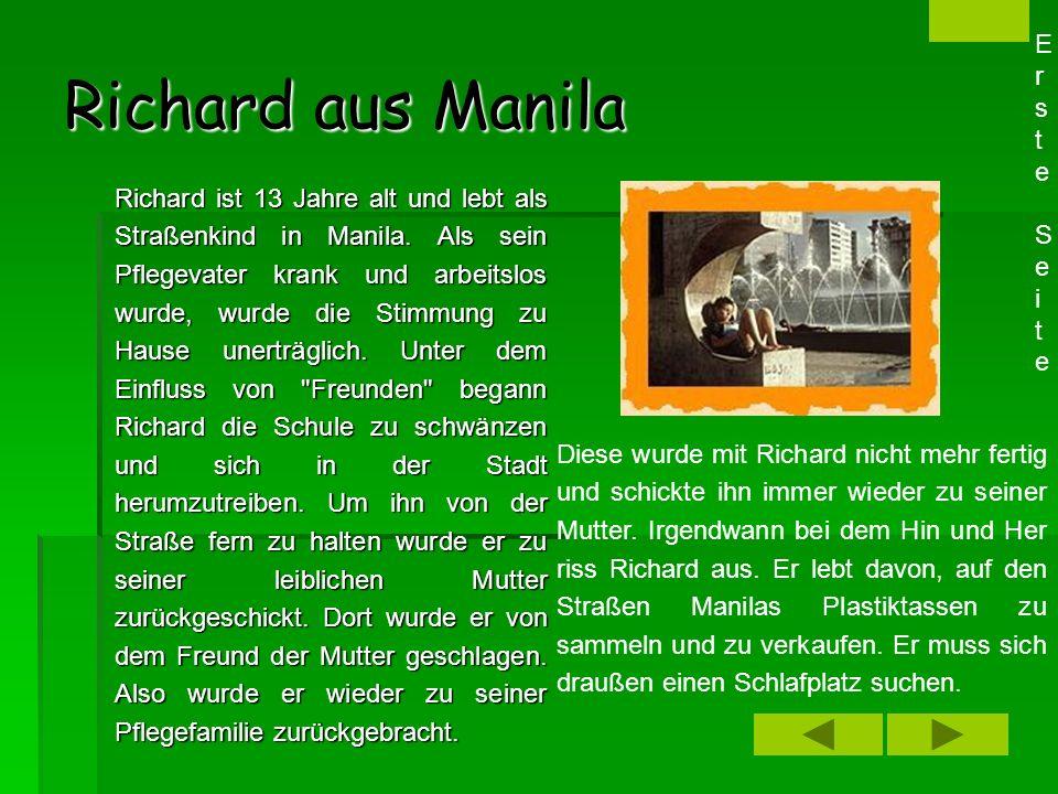 Richard aus Manila Erste Seite