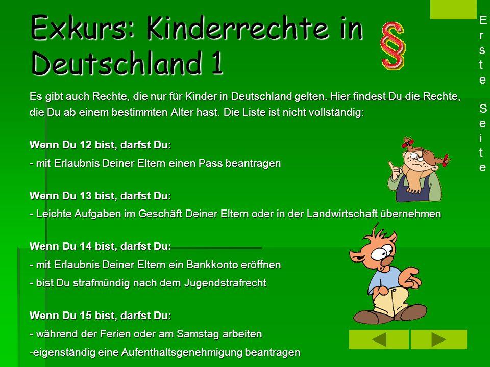 Exkurs: Kinderrechte in Deutschland 1