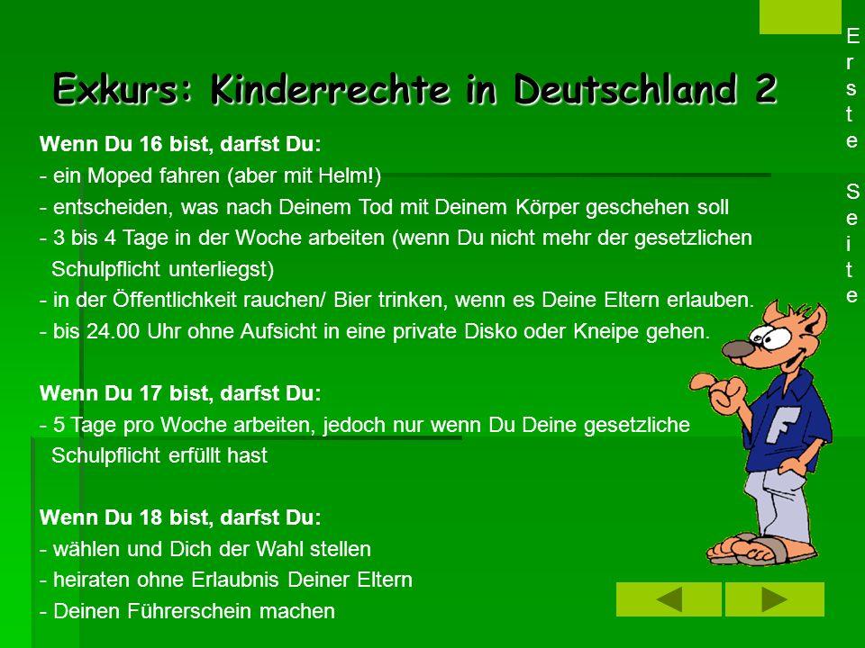 Exkurs: Kinderrechte in Deutschland 2