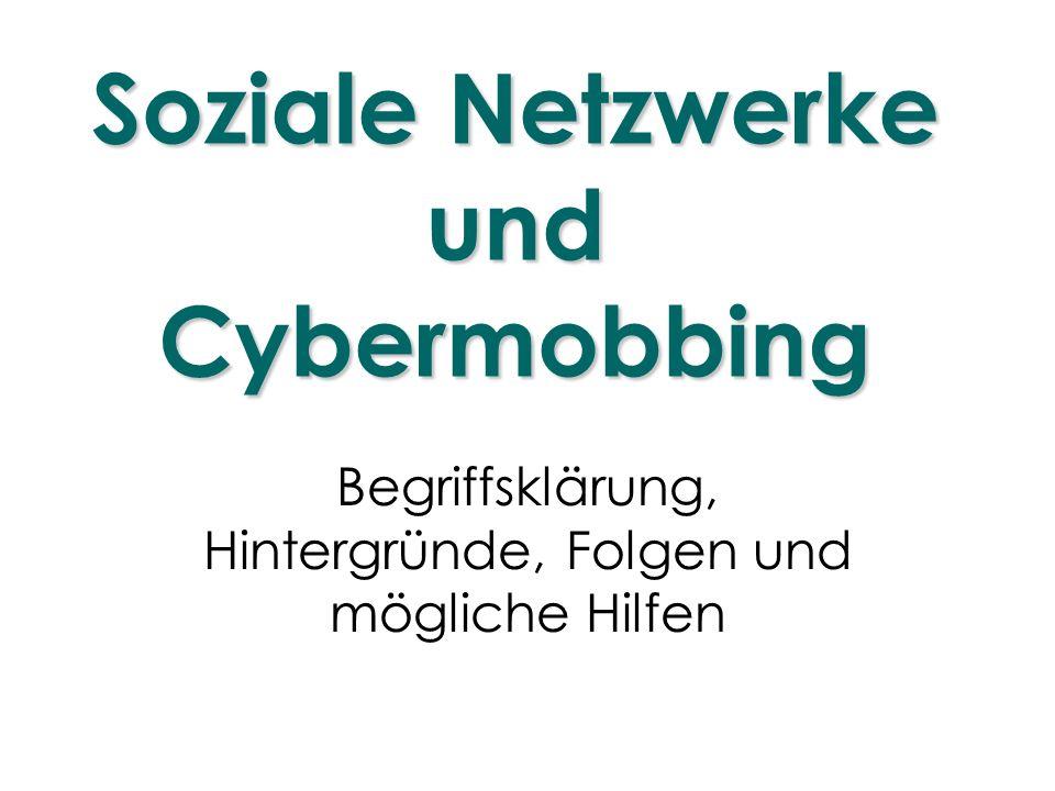 Soziale Netzwerke und Cybermobbing
