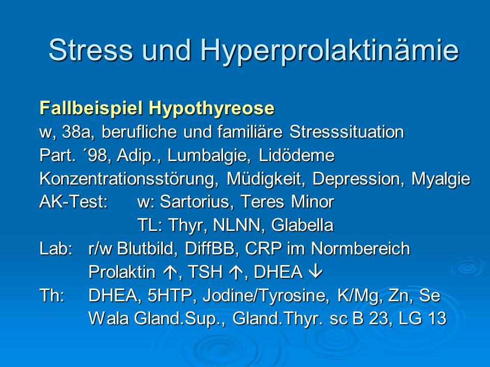 Stress und Hyperprolaktinämie