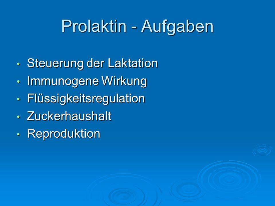 Prolaktin - Aufgaben Steuerung der Laktation Immunogene Wirkung