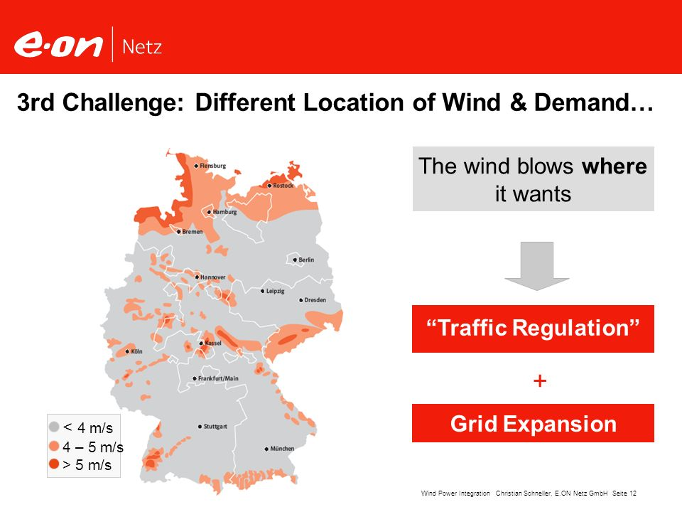 3rd Challenge: Different Location of Wind & Demand…