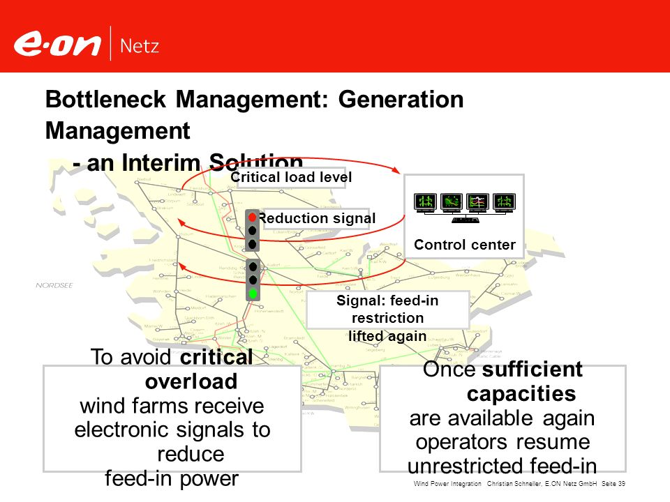Bottleneck Management: Generation Management - an Interim Solution