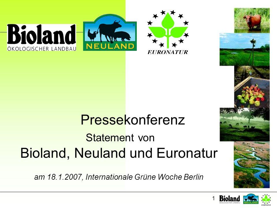 Bioland, Neuland und Euronatur