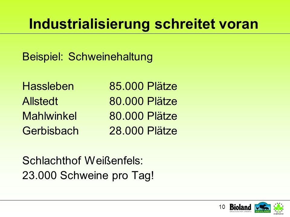 Industrialisierung schreitet voran