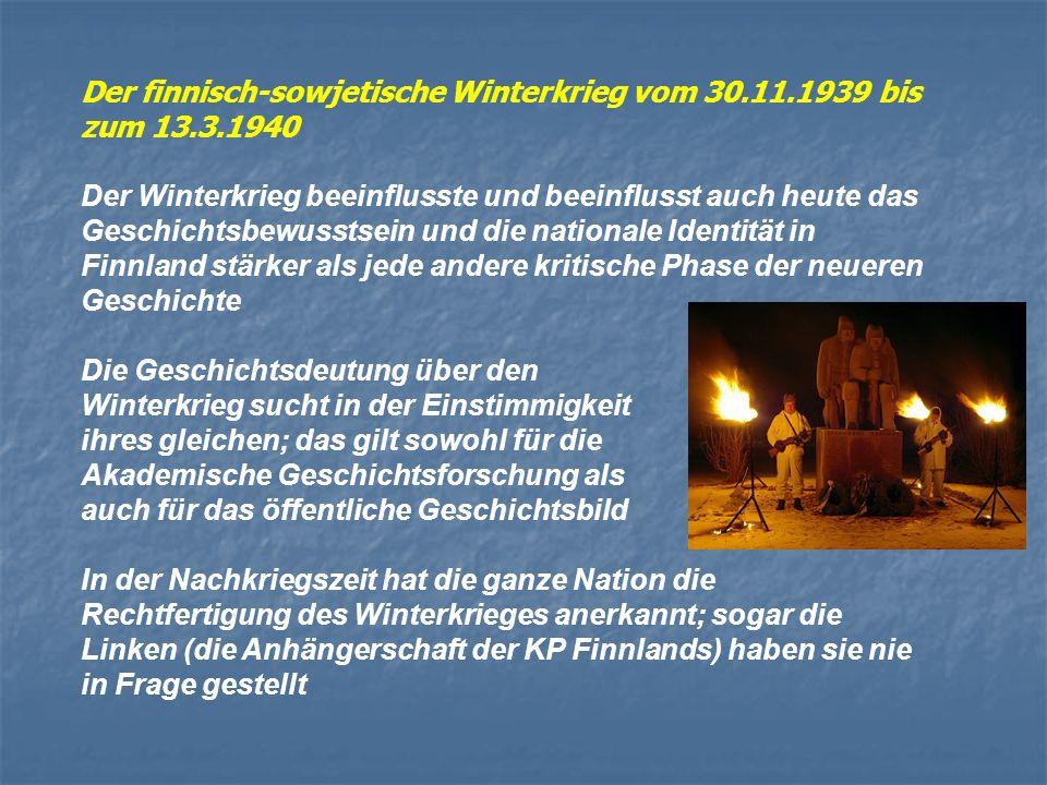 Der finnisch-sowjetische Winterkrieg vom 30.11.1939 bis zum 13.3.1940