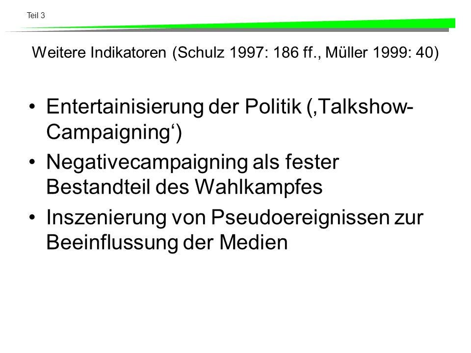 Weitere Indikatoren (Schulz 1997: 186 ff., Müller 1999: 40)