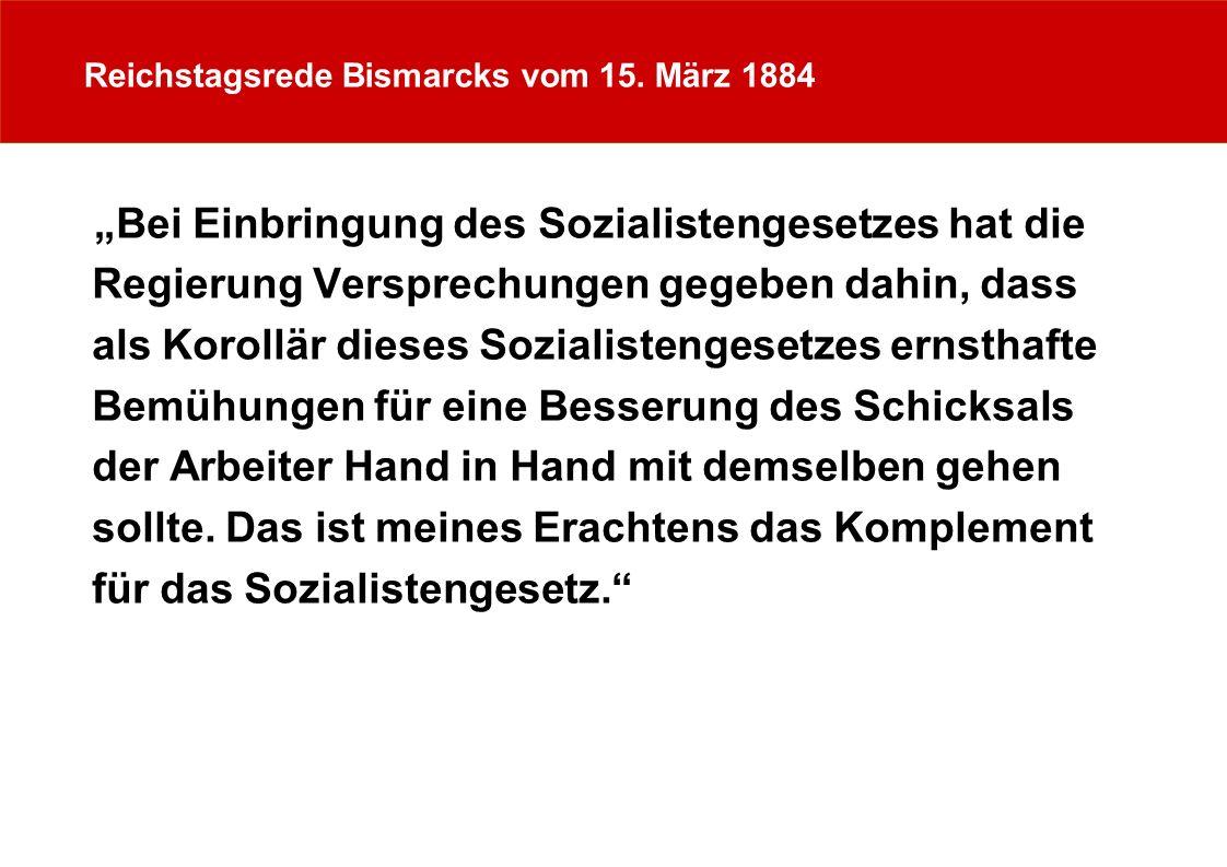 Reichstagsrede Bismarcks vom 15. März 1884