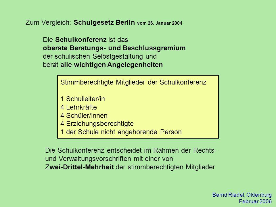 Zum Vergleich: Schulgesetz Berlin vom 26. Januar 2004