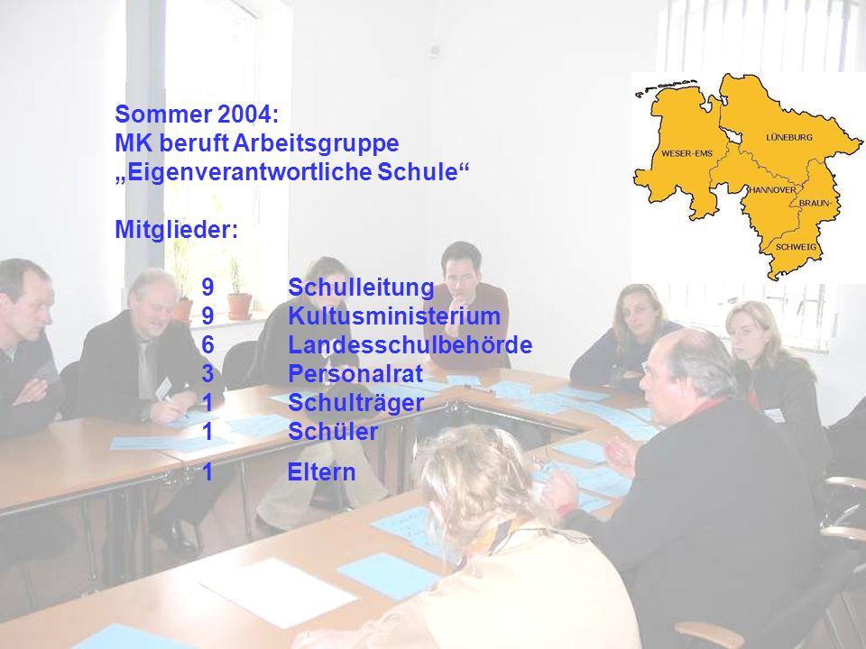 """MK beruft Arbeitsgruppe """"Eigenverantwortliche Schule Mitglieder:"""
